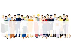 様々な職業の群衆のイラスト素材 [FYI03880317]