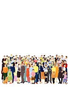 様々な職業の群衆のイラスト素材 [FYI03880333]