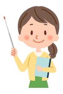 指し棒を持った教師のイラスト素材 [FYI03880634]