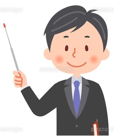 指し棒を持った教師のイラスト素材 [FYI03880636]
