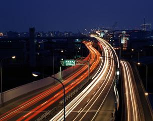 福岡都市高速夜景の写真素材 [FYI03881897]