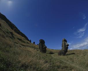 モアイ像 イースター島の写真素材 [FYI03882395]