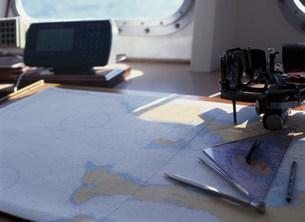 船の海図室の写真素材 [FYI03882910]