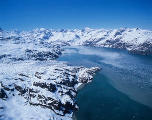グレイシャーベイ国立公園 氷河の空撮の写真素材 [FYI03883414]