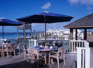 マリーナのレストランの写真素材 [FYI03884151]