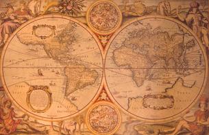 古い世界地図の写真素材 [FYI03884462]