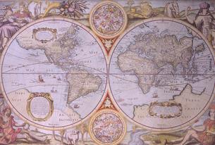 古い世界地図の写真素材 [FYI03884471]