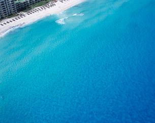 ビーチの空撮 カンクンの写真素材 [FYI03884605]