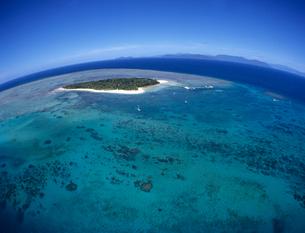 グリーン島空撮  オーストラリアの写真素材 [FYI03884968]