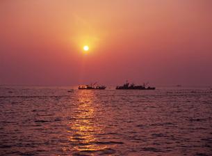 早朝の定置網漁 氷見市 富山県の写真素材 [FYI03885154]