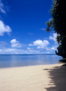 岩山と砂浜と海 石垣島の写真素材 [FYI03885175]