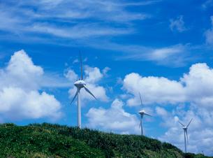 風力発電所 宮古島の写真素材 [FYI03886607]