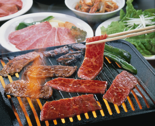 焼き肉の写真素材 [FYI03895419]