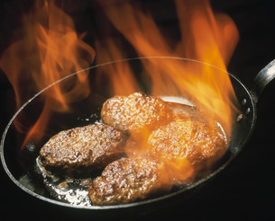 ハンバーグステーキの写真素材 [FYI03895462]
