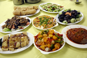 中華料理(精進料理)の写真素材 [FYI03899840]
