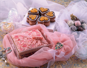バレンタインケーキの写真素材 [FYI03902195]