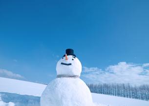 帽子をかぶる雪だるまの写真素材 [FYI03910455]