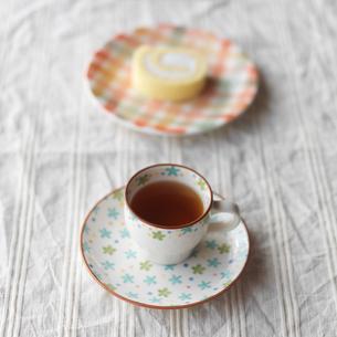 ロールケーキとコーヒーの写真素材 [FYI03910637]