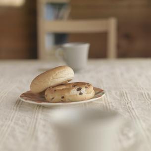 ベーグルとコーヒーの写真素材 [FYI03910652]