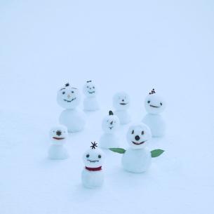 雪だるまの集合の写真素材 [FYI03912573]