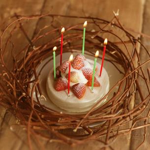 クリスマスケーキとリースの写真素材 [FYI03913057]