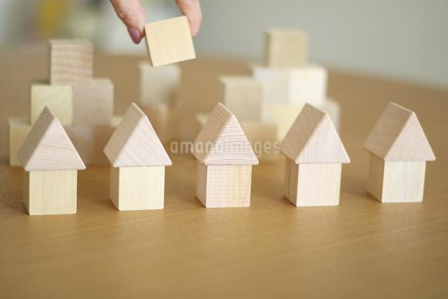 積み木の家の写真素材 [FYI03913895]
