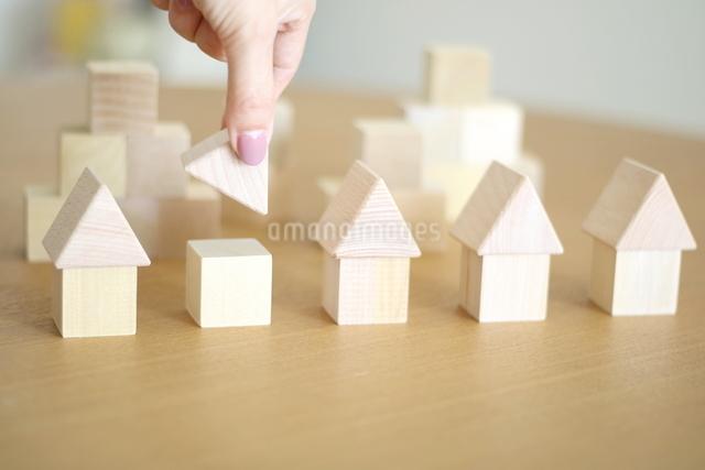 積み木の家の写真素材 [FYI03913896]