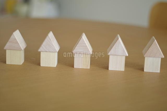 積み木の家の写真素材 [FYI03913910]