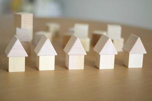 積み木の家の写真素材 [FYI03913912]