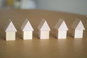 積み木の家の写真素材 [FYI03913913]