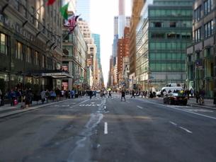 マンハッタンのストリート2の写真素材 [FYI03913935]