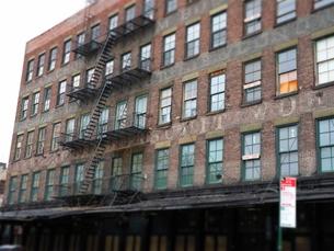 ニューヨークの街角の写真素材 [FYI03913936]