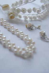 真珠のアクセサリーの写真素材 [FYI03917626]