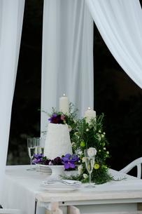 ウエディングのテーブルセットの写真素材 [FYI03917671]