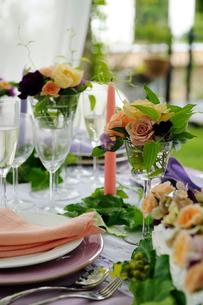 ウエディングのテーブルセットの写真素材 [FYI03917701]