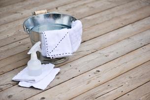 バケツと雑巾とスプレーの写真素材 [FYI03917866]
