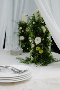 ウエディングのテーブルセットの写真素材 [FYI03918012]