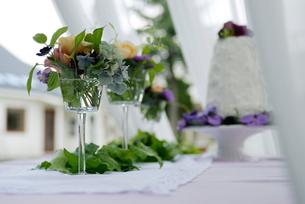 ウエディングのテーブルセットの写真素材 [FYI03918033]