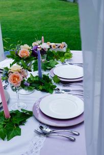 ウエディングのテーブルセットの写真素材 [FYI03918047]