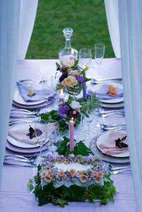 ウエディングのテーブルセットの写真素材 [FYI03918051]
