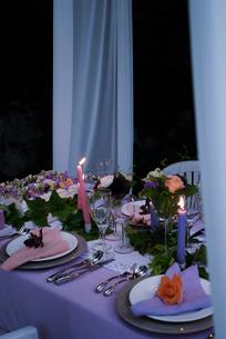 ウエディングのテーブルセットの写真素材 [FYI03918056]