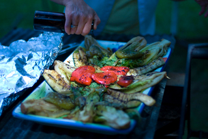焼けた野菜の写真素材 [FYI03918516]