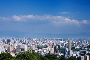 万日山より望む熊本市内の街並みの写真素材 [FYI03919652]