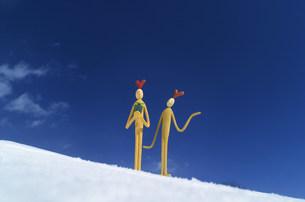 雪原に立つクラフトの写真素材 [FYI03920469]