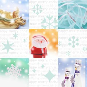 クリスマスコラージュの写真素材 [FYI03920518]