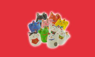 招き猫のイメージの写真素材 [FYI03920543]