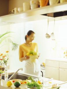 料理をする女性の写真素材 [FYI03921156]