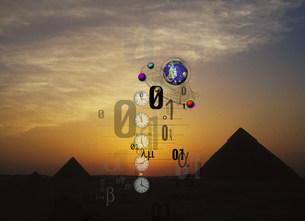 ピラミッド コラージュの写真素材 [FYI03921518]