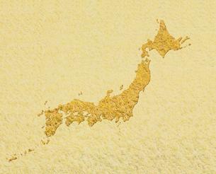 稲穂の日本地図 CGの写真素材 [FYI03921981]