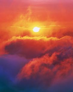 雲海と朝日の写真素材 [FYI03922506]